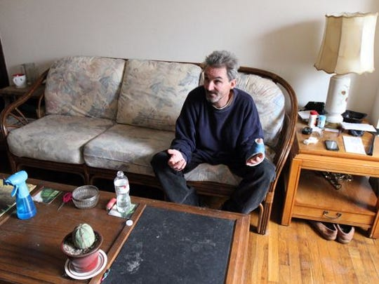 David Dixon, 52, who lived in Lakewood's Tent City for three years, talks about life in his new apartment in Berkeley.