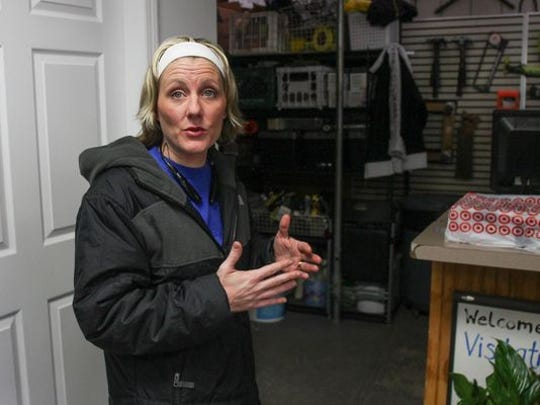 Christine Winters, director of the Visitation Relief Center in Brick talks about the operation at the Mantoloking Road facility.