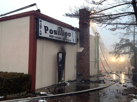Posillipo Restaurant on fire March 26, 2014.