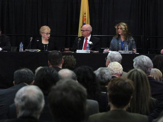 Monmouth County Board of Chosen Freeholders held its reorganization meeting at the Biotechnology High School Auditorium in Freehold Tuesday, Jan 6. The county spends more than $1 million a year on legal fees.