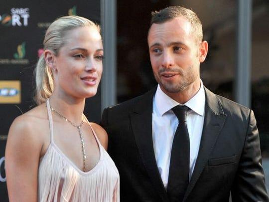 South African model Reeva Steenkamp and then boyfriend Oscar Pistorius.