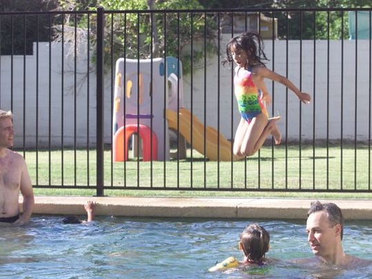 Waterworld Fiber Glass Pools in Hammonton allegedly left some customers with holes in the ground and piles of stone instead of finished inground swimming pools, the state said Tuesday.