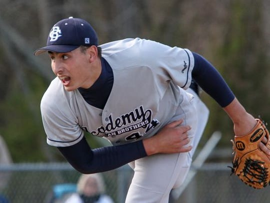 Christian Brothers Academy right-hander Luca Dalatri allowed five hits and struck out 11 in six innings Friday at Marlboro for his 14th straight win over the last two seasons.
