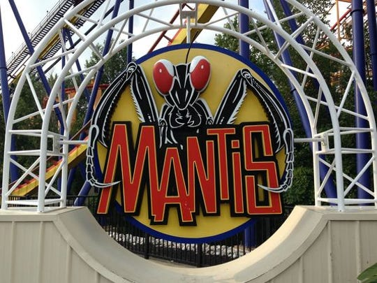 The Mantis roller coaster at Cedar Point.