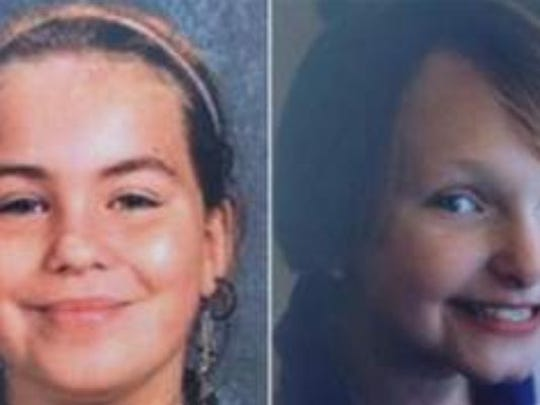 Lyric Cook-Morrissey (left), and Elizabeth Collins, both of Evansdale, disappeared during a July 13, 2012, bike ride in Black Hawk County.
