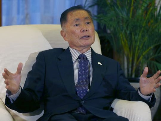 Actor George Takei speaks to the media at a reception for the LGBT community held in Tokyo on June 5, 2014.
