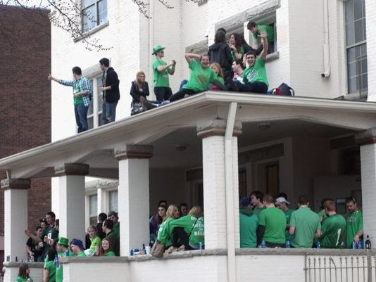 A Saint Patrick's Day party in 2012 at a house on campus in Champaign, Ill..JPG