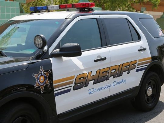 Riverside County Sheriff's Department vehicle.