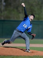 Centerville's Jack Willis pitches to Seton during a
