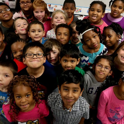 The second grade class of Barb Kilgore on Tuesday,