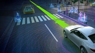 Tech companies such as Nvidia are working on advanced driver assistance systems for self-driving cars.