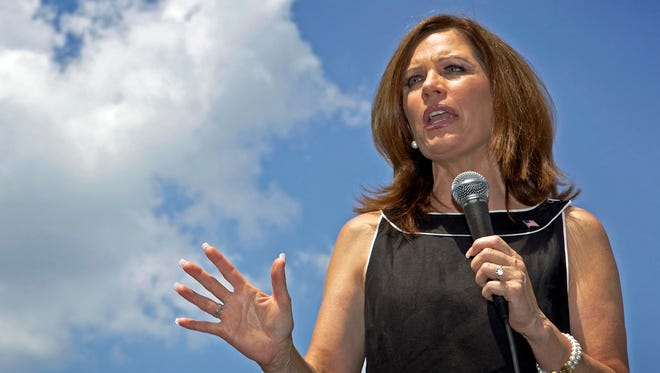 """Michelle Bachmann, the founder of the House Tea Party Caucus, told ABC News-Yahoo News that she was """"sorry"""" Brewer struck down Senate Bill 1062."""