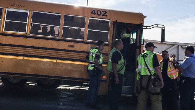 An El Paso Independent School District bus transporting students to Chapin High School was involved in an accident Tuesday morning.