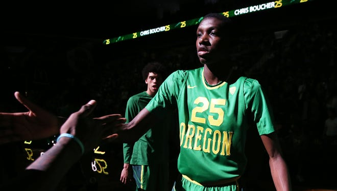 Despite getting a late start in the game of basketball, Oregon's Chris Boucher has a strong chance to play professionally.
