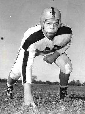 John Thomas was an all-state nose guard and offensive lineman for the 1954 state champion Abilene High football team. He will be inducted into the Big Country Athletic Hall of Fame on Monday.