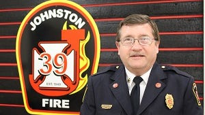 Johnston and Grimes Fire Chief Jim Krohse.