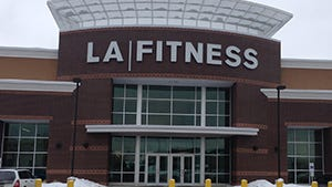 LA Fitness, such as the franchise in Greece, must allow aides for the disabled access to the building without paying a fee.