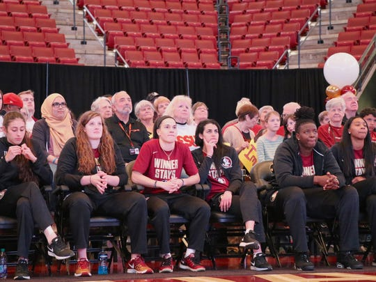 Chatrice White and the rest of her Florida State teammates await their tournament seeding during Selection Monday at the Tucker Center.