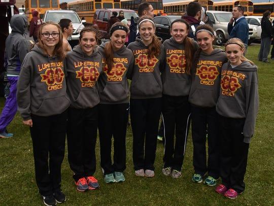 The Luxemburg-Casco girls cross-country team advanced