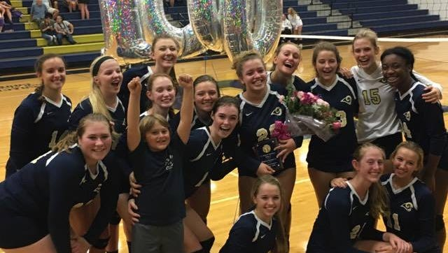 Roberson junior Sophia Fantauzzi dished out the 1,000th assist of her volleyball career in Tuesday's 3-1 home win over Enka.
