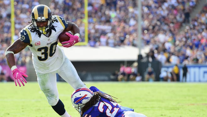 Rams' running back Todd Gurley has already fumbled twice this season after coughing up the ball only three times in 2015.
