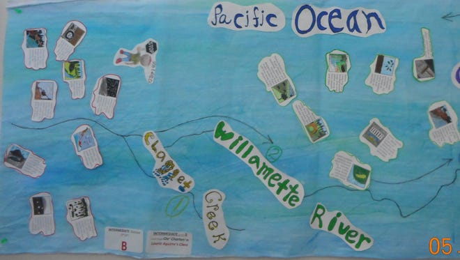 Laurie Aguirre's 2nd/3rd-grade class at OLECharter School won the intermediate division of the Marion Soil and Water Conservation District's K-5 Grade Mural Art Contest.