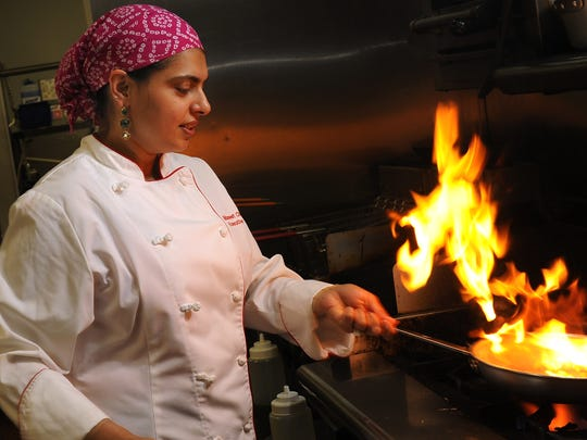 Food Network star,chef and artisanbrewery owner Maneet Chauhan is keynote speaker at the 2018 Women in Business conference, set for 11:30 a.m. to 1 p.m. March 13 at Middle Tennessee State University's Student Union.