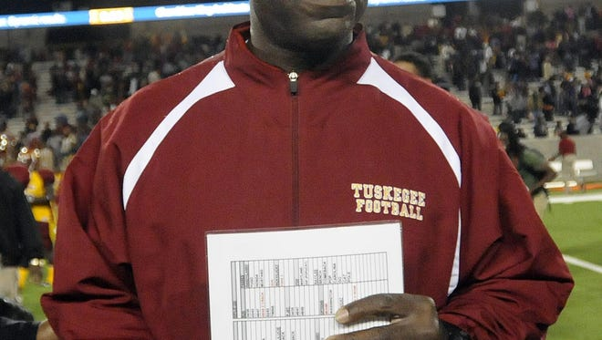 Tuskegee coach Willie Slater is one of 12 SIAC coaches on hand for media day on Monday at DoubleTree by Hilton in downtown Montgomery.