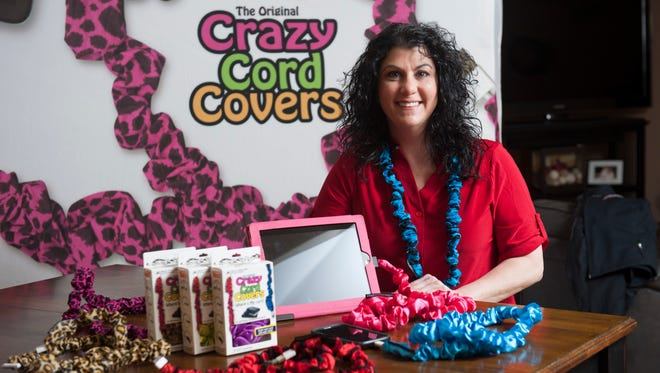 Washington Township resident Lisa Lake is the creator of Crazy Cord Covers, a product that marks and hides USB and other device cords.
