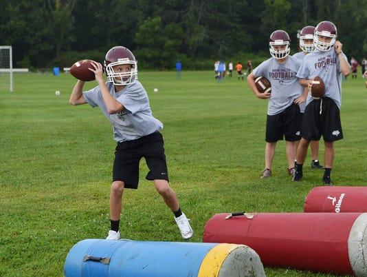 New Paltz football preseason practice