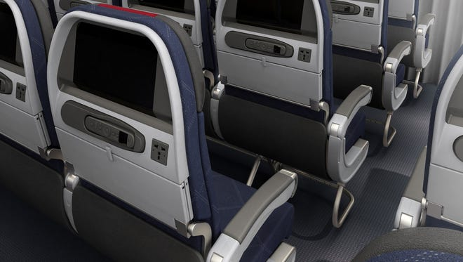 American Airlines economy seating on its 777-300ER aircraft. Seats are 17.2 inches wide with a 31-inch pitch.