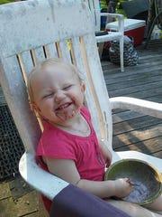 Emma Grace McKay of Newfield enjoying a summertime