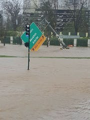 Flood waters in Bayamon in Puerto Rico