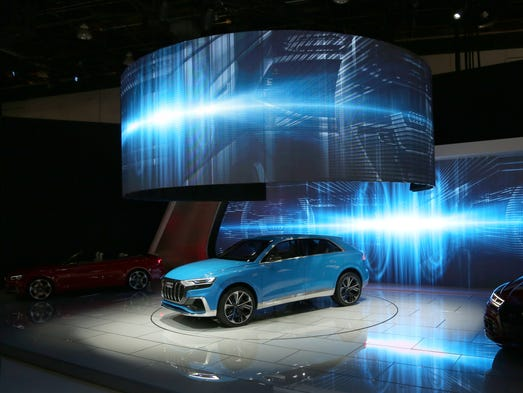 The Audi Q8 Concept is revealed to the automotive press