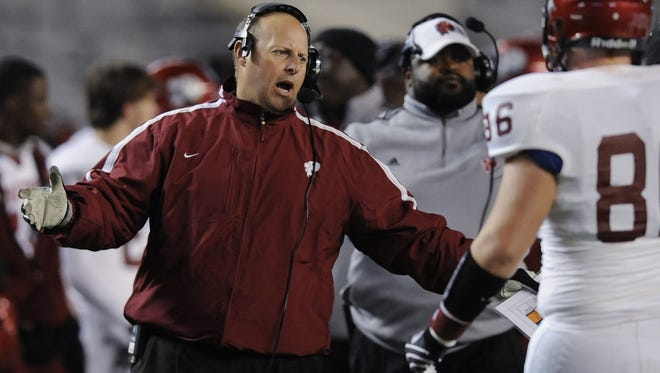 In this file photo, Prattville Head Coach Jamey Dubose coaches his players in first quarter action in the AHSAA 6A State Championship football game at Bryant Denny Stadium in Tuscaloosa, Ala. on Friday December 2, 2011. (Montgomery Advertiser, Mickey Welsh)