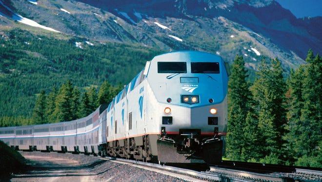 Amtrak's Empire Builder makes its way through Montana.