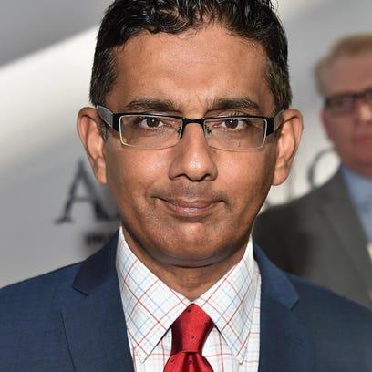 Conservative writer/filmmaker Dinesh D'Souza will be