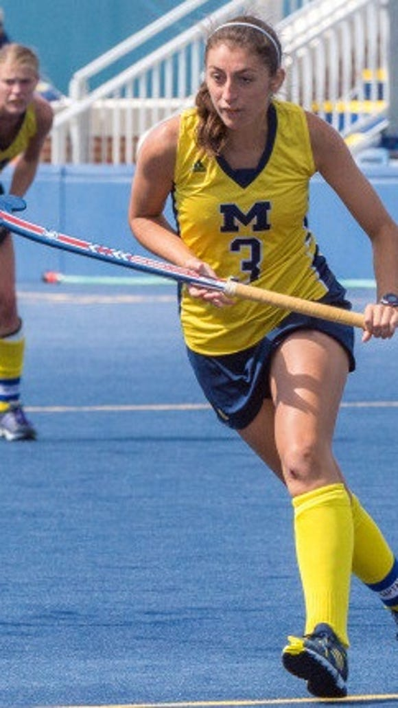 Lakeland graduate Shannon Scavelli shown as member of the Michigan Wolverines
