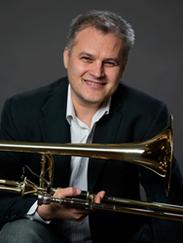 Cristian Ganicenco, principal trombone player with