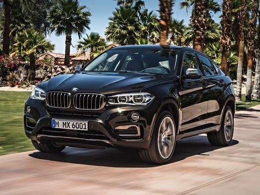 The new BMW X6 looks right at home at a luxury resort