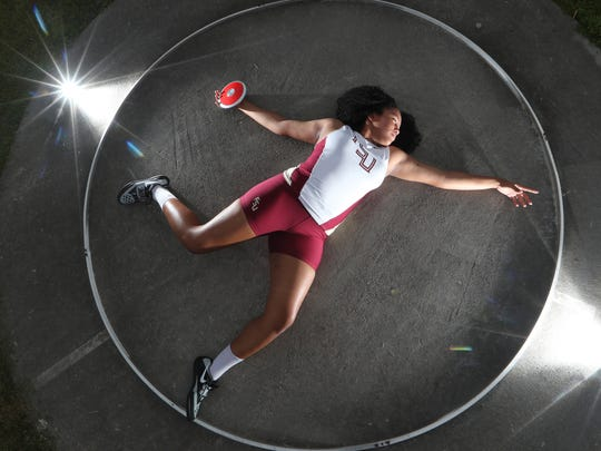Florida High sophomore Jhordyn Stallworth is the 2018 All-Big Bend Field Athlete of the Year in girls track and field after recording the area mark in discus and second-best in shot put, while finishing fourth and sixth in Class 2A in each event, respectively.