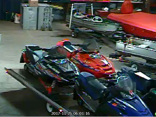 Milwaukee police say these snowmobiles and the trailer