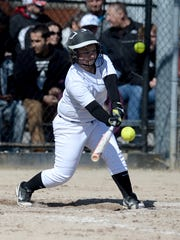 Richmond's Kelcie Mullins swings at a pitch from New