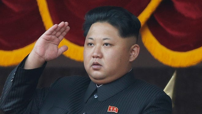 In this Oct. 10, 2015, file photo, North Korean leader Kim Jong Un salutes at a parade in Pyongyang.