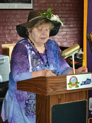"""Brenda Steger, and husband Gary, host a Derby Day program for the Morganfield Lions Club each year.  The most recent event took place May 5-the day before the Derby.  Here, Brenda talks about the many traditions of the Derby, how the Derby started and what led to its distinction as the """"Most Exciting Two Minutes In Sports."""""""