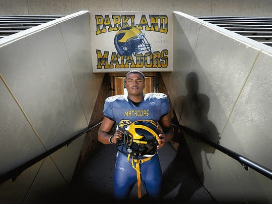 MARK LAMBIE—EL PASO TIMES  Parkland linebacker Christian Johnson will be a force for the Matadors this season.