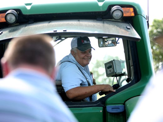 Farm owner Dan Cristiani gives a tour of the historic Spriestersbach farm near Charlestown, Ind. July 10, 2014.