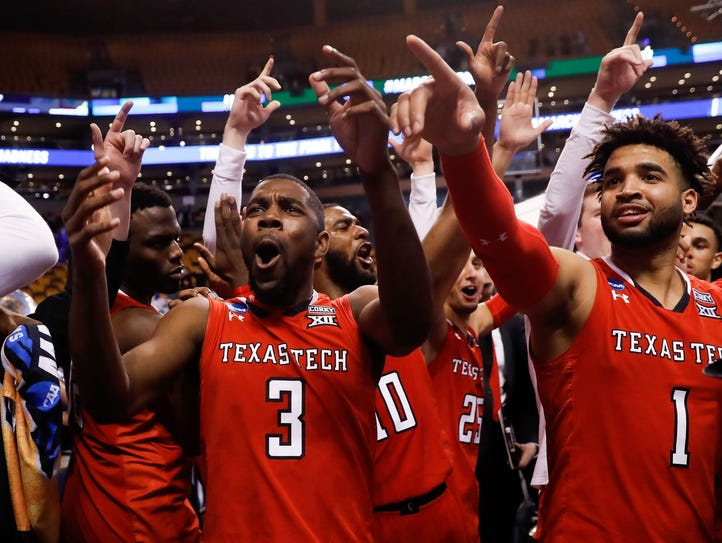 Josh Webster (3), Brandone Francis (1) and Texas Tech