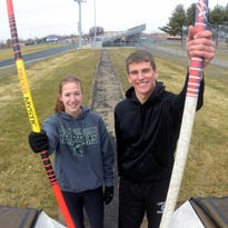 Lakeview senior Hannah Emery works on her pole vault technique at a recent practice.