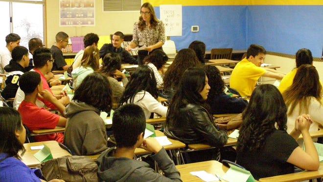 Classroom at Everett Alvarez High School in Salinas
